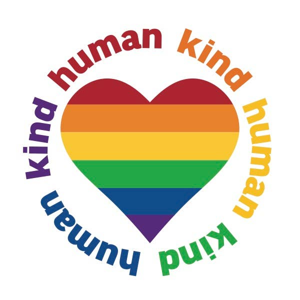 Human Kind Rainbow Heart - Vinyl Decal Sticker