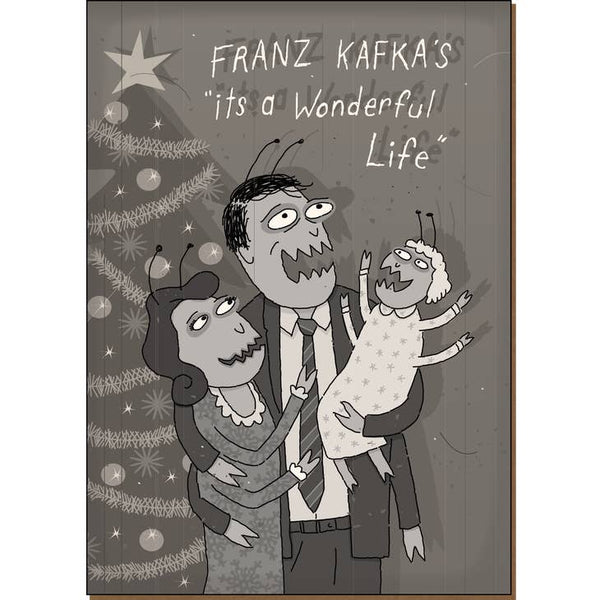 Franz Kafka's It's A Wonderful Life - Dark Holiday Christmas Card