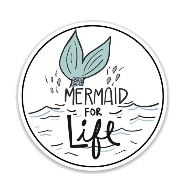 Mermaid for Life Vinyl Sticker, Ocean Sticker