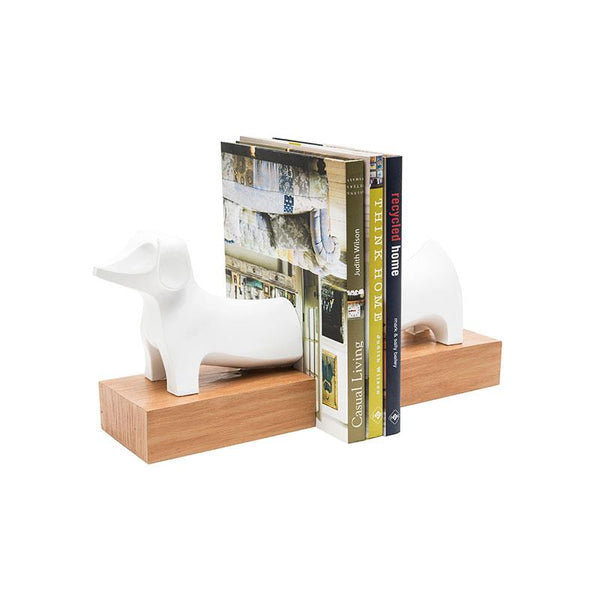 Dog Bookends - White 15-in