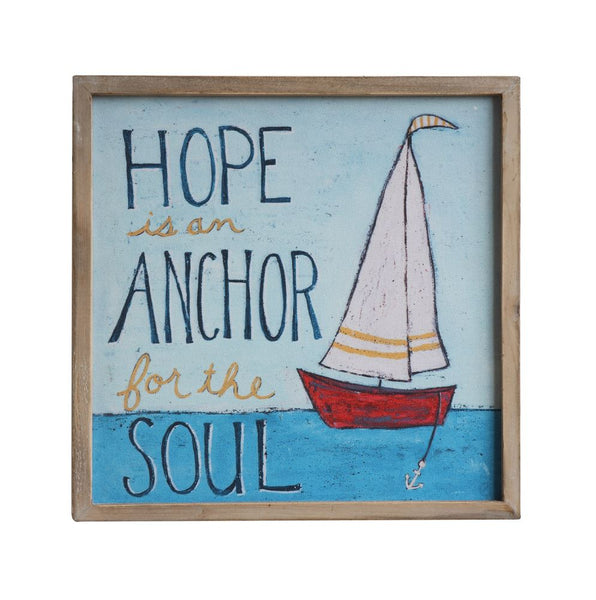 Hope Is an Anchor - Wooden Wall Decor 14-in