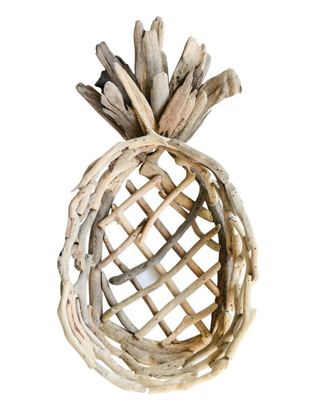 Decorative Driftwood Pineapple Tray | 20-in