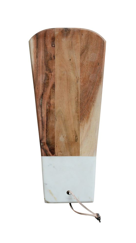 Marble and Acacia Wood Cutting Board | 19-in