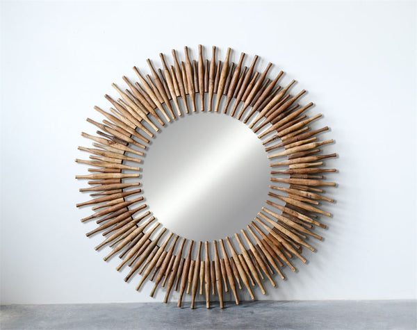 Roti Pins Sunburst Mirror | 48-in