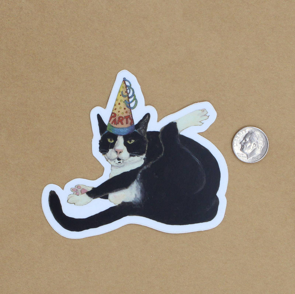 Party Cat Vinyl Decal Sticker