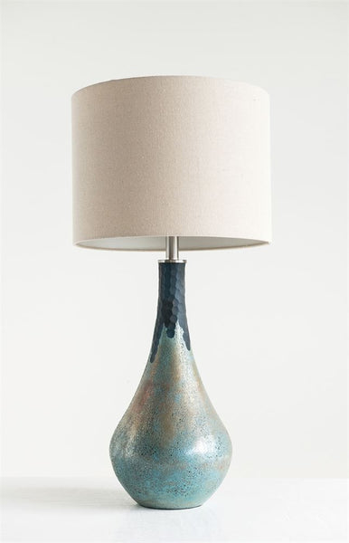 Glass Table Lamp with Green Opal Finish 32-in