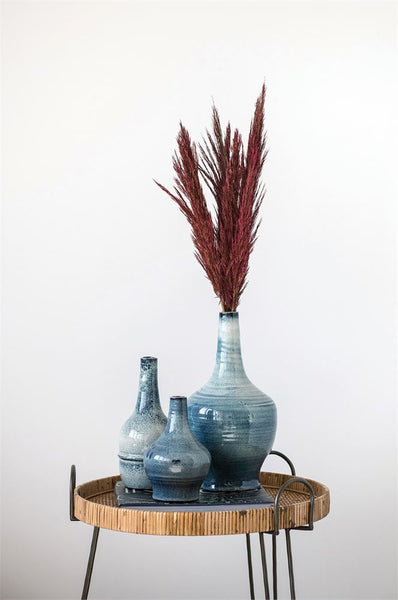 Terracotta Vase With Reactive Glaze