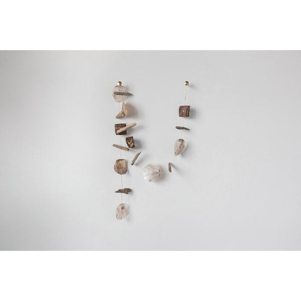 Capiz Shell - Coconut Shell & Driftwood Garland - 70-in