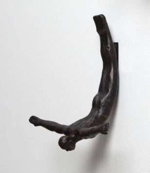 Global Views Wall Diver (Male) Sculpture - 10-1/4-in