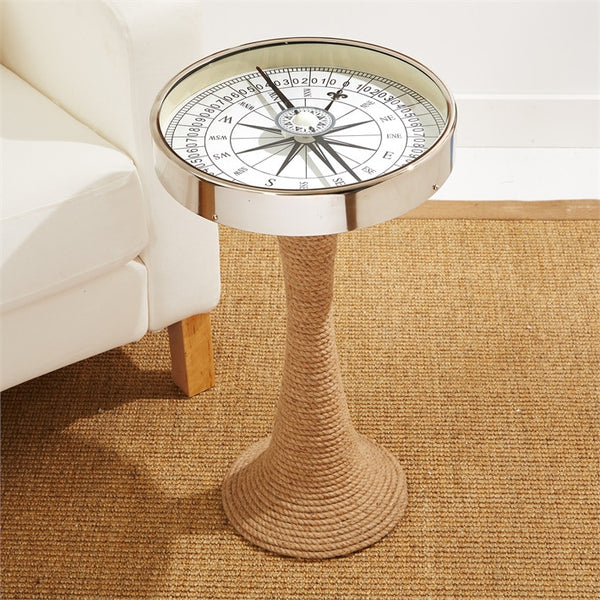 Tozai Home Working Compass Accent Table