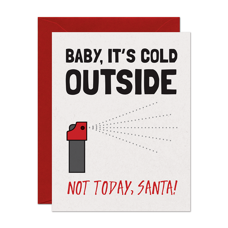 Baby It's Cold Outside Holiday Greeting Card