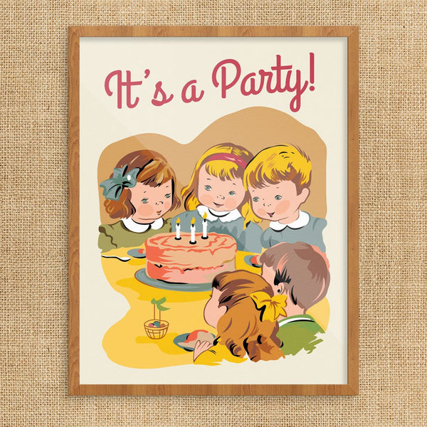 It's A Party Children's Birthday Party Greeting Card