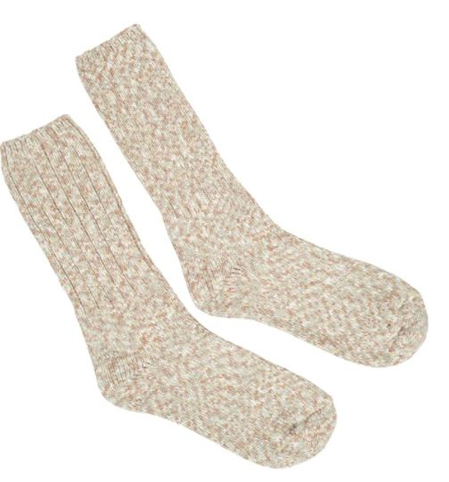 World's Softest Socks - Ragg Crew - Ribbed Leg - Earthy