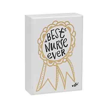Best Nurse Ever Ribbon Box Sign 5-in