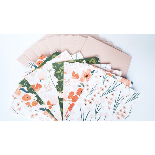 Flower Power Assorted Greeting Card Boxed Set - 10 Cards
