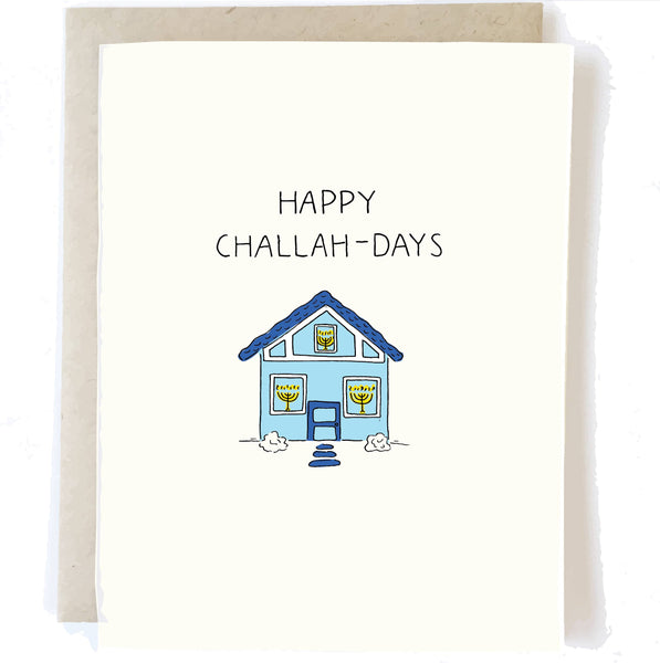 Happy Challah-Days - Holiday Hanukkah Greeting Card