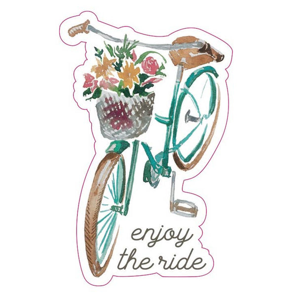 Enjoy The Ride Bicycle - Vinyl Decal Sticker