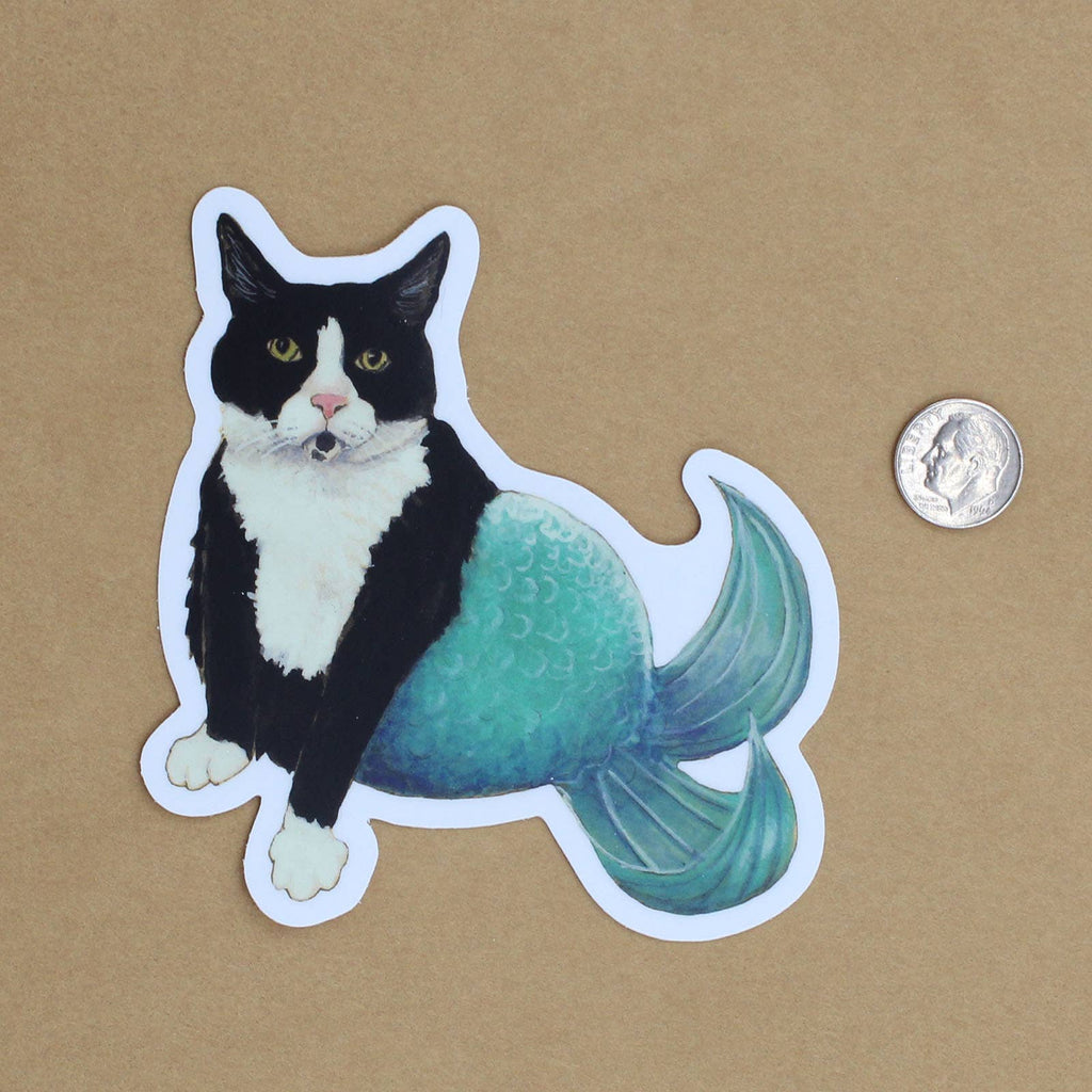 Cat Mermaid Vinyl Decal Sticker