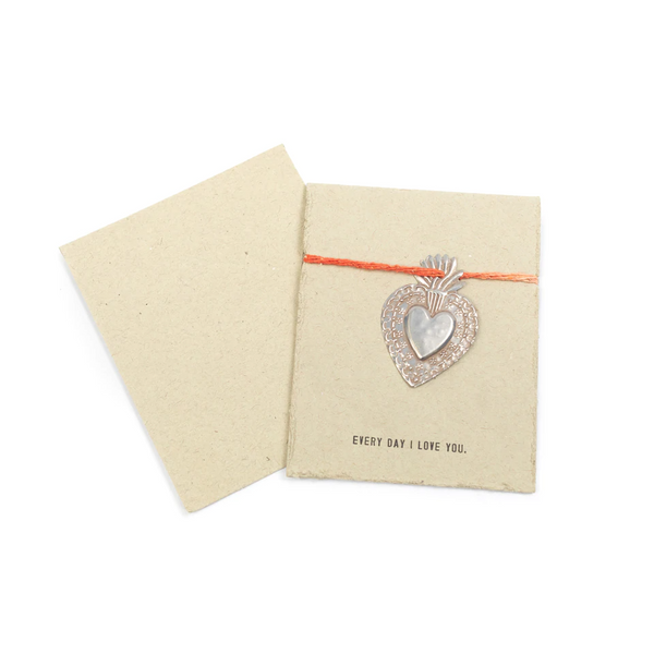 Milagro Heart Card - Every Day I Love You