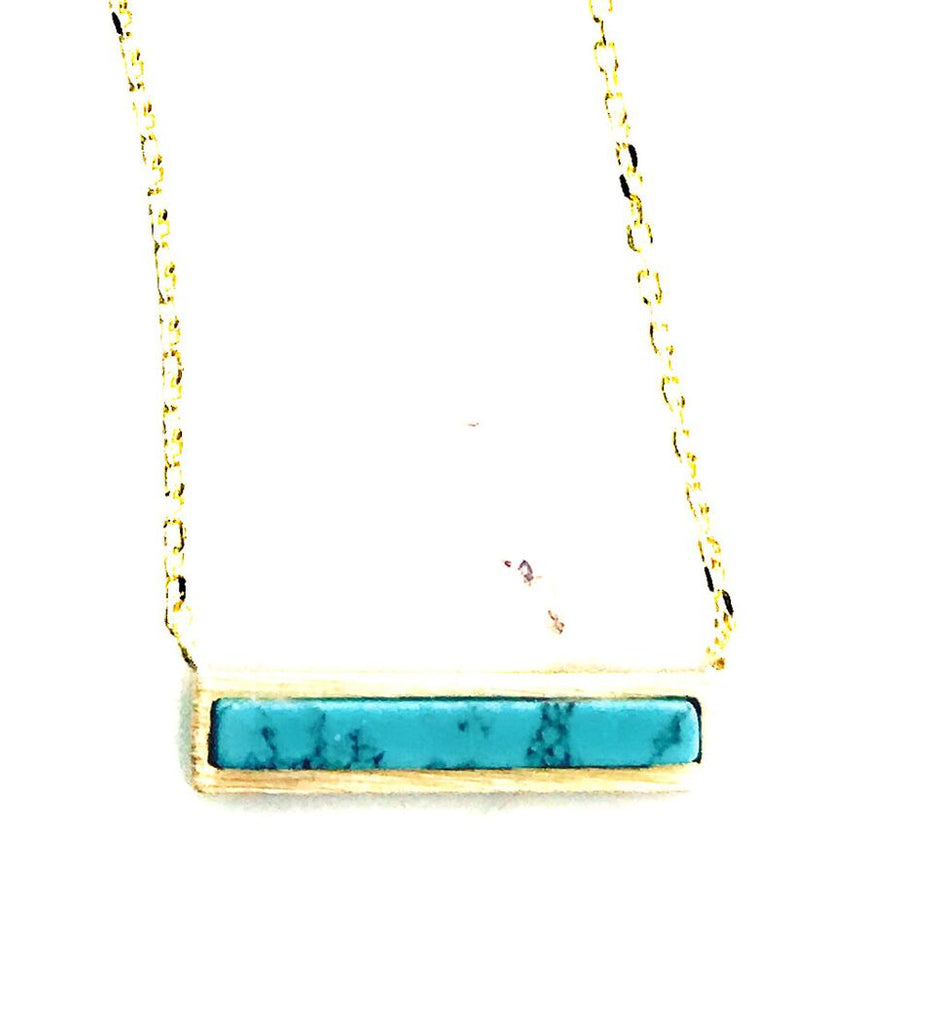 Adorn 512 - Turquoise Bar Necklace