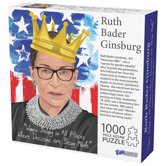 The Notorious Ruth Bader Ginsberg RBG Jigsaw Puzzle - 1000 Pieces