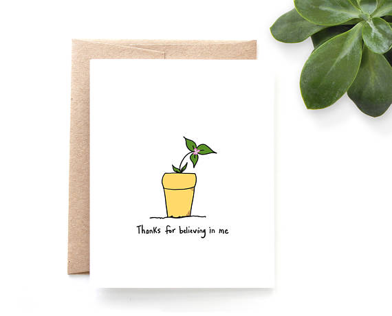 Yellow Daisy Paper Co. - Believing In Me Thank You Card