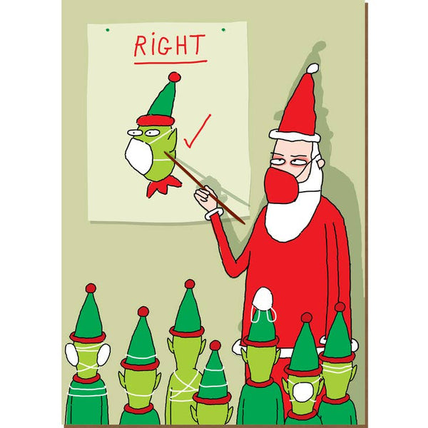 Right and Wrong - Holiday Christmas Card