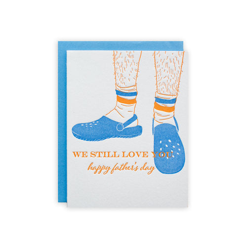 Crocs And Socks Father's Day Greeting Card