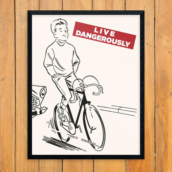 Live Dangerously Biker Greeting Card