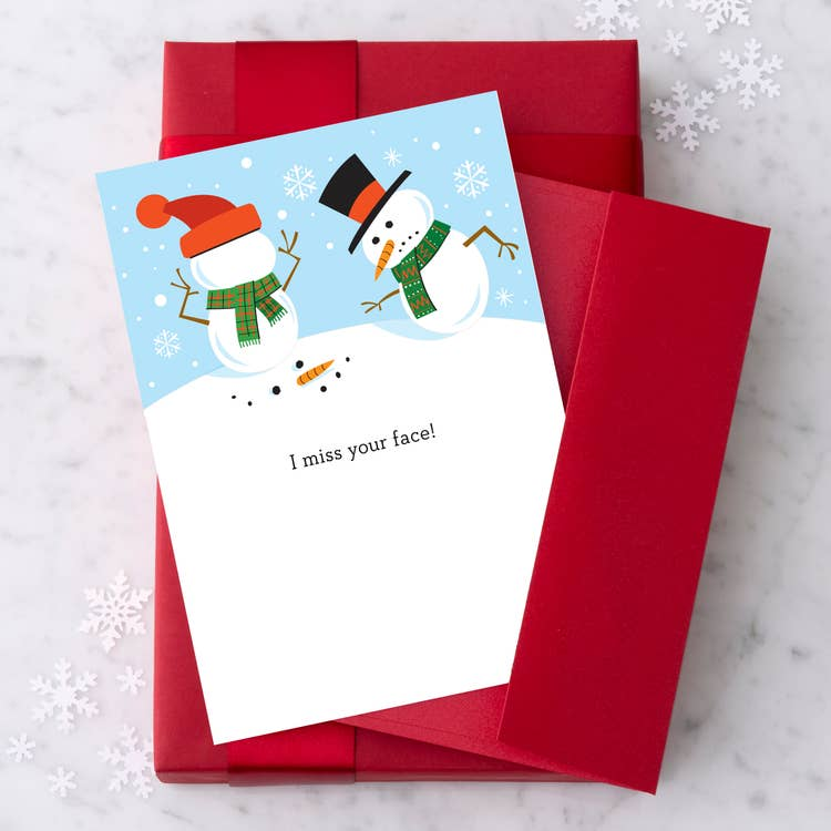 I Miss Your Face Christmas 2020 - Holiday Greeting Card