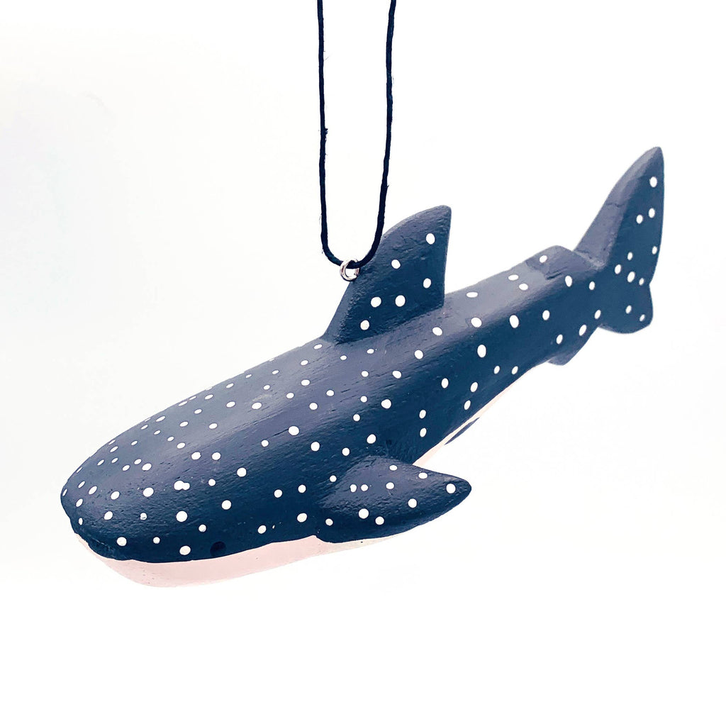 Whale Shark Balsa Ornament - 5-in