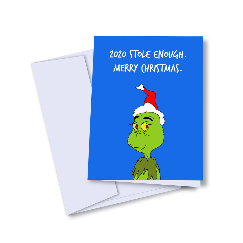 The Grinch - 2020 Stole Enough. Merry Christmas Holiday Greeting Card