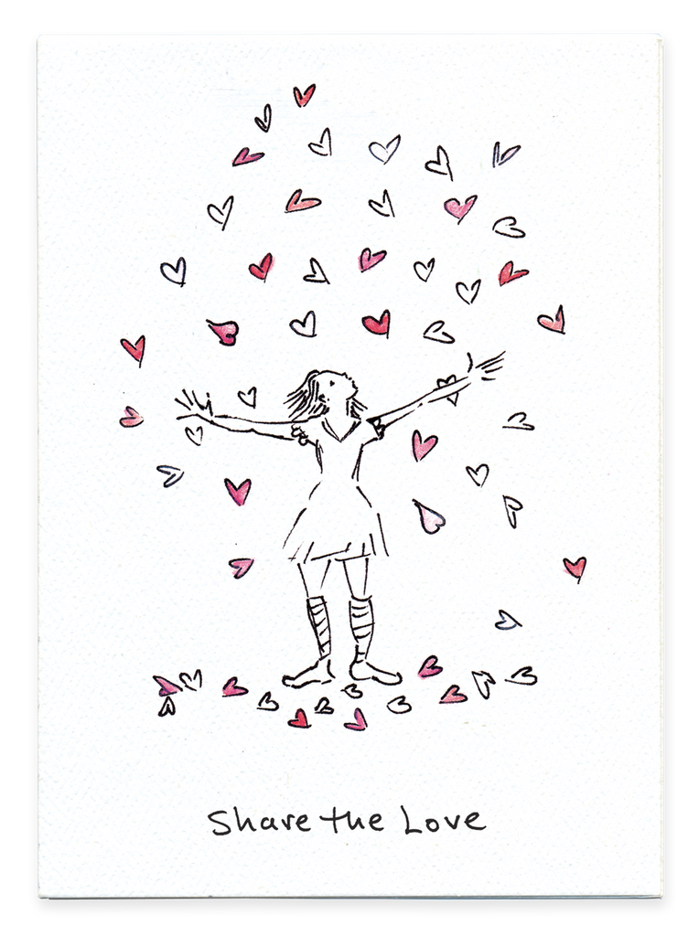 Share the Love - Hearts All Over - Greeting Card