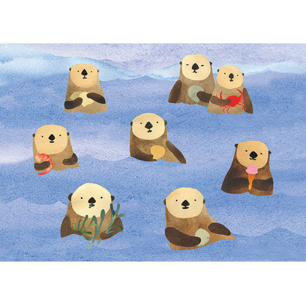 Otters Picnic Birthday Card