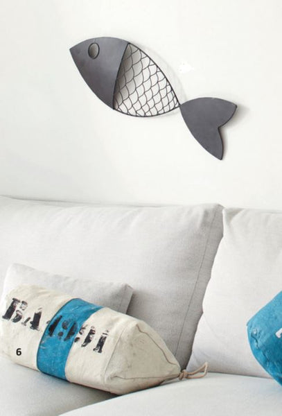 Metal Wall Mounted Fish - 28-in