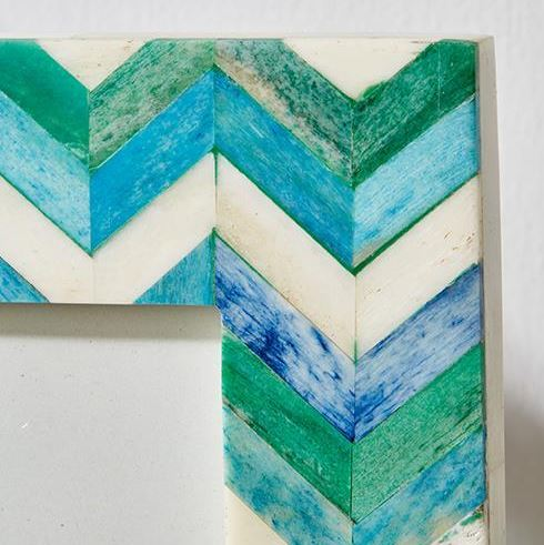Le Mer Blue Chevron Photo Frame