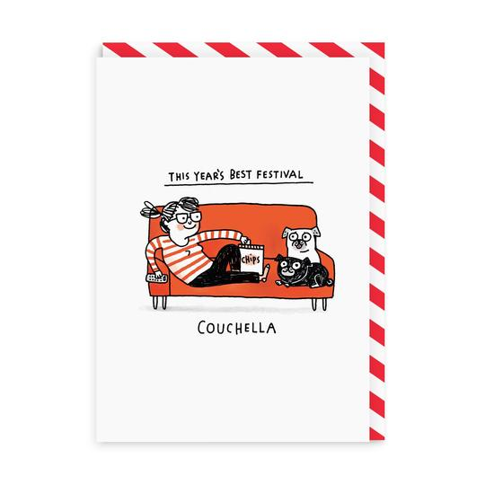 This Year's Best Festival - Couchella - Greeting Card