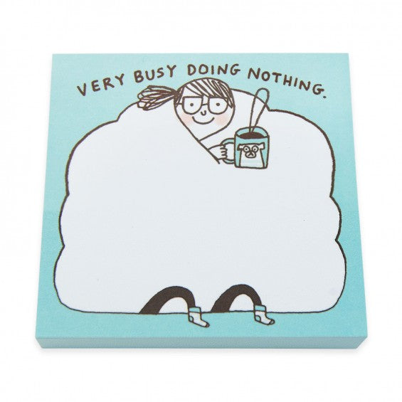Very Busy Doing Nothing - Mini Sticky Notepad