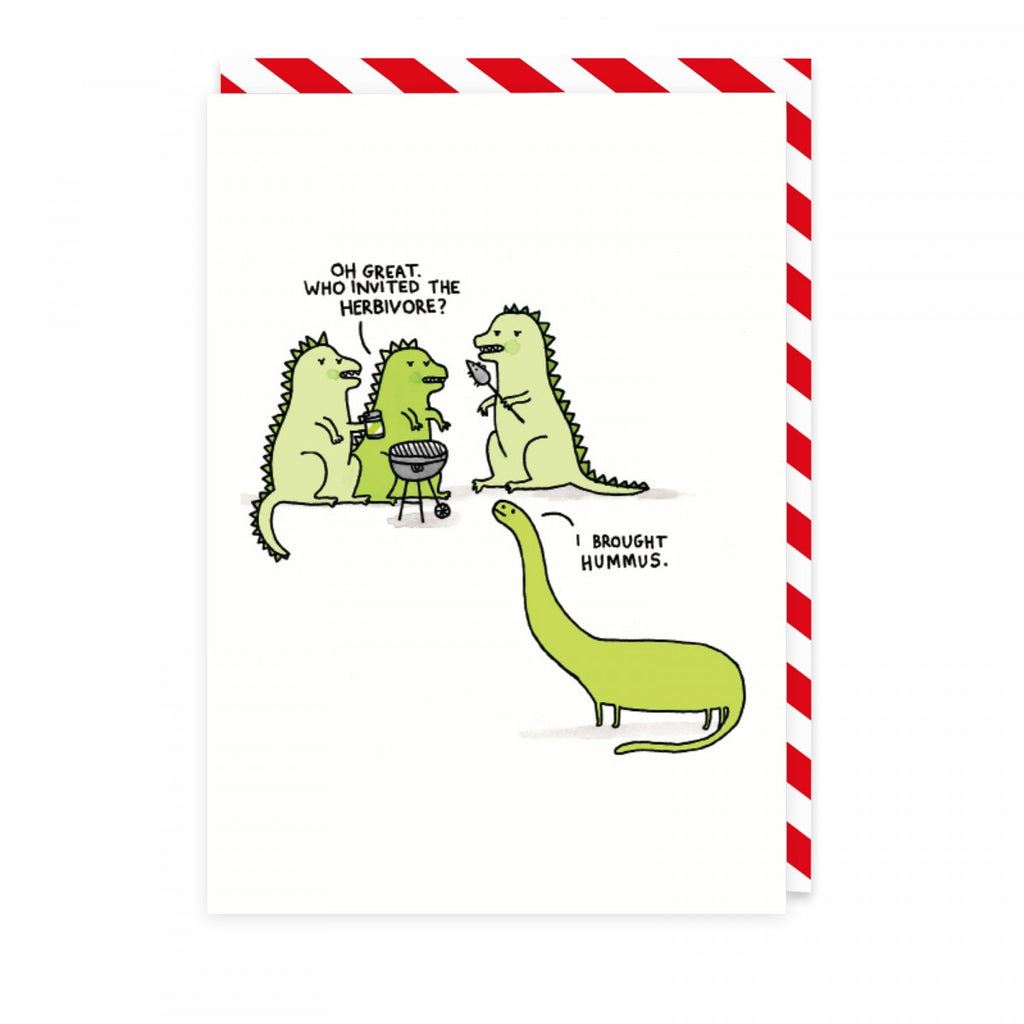 Who Invited The Herbivore? - Greeting Card