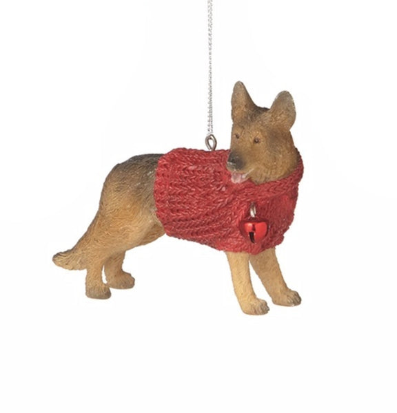 Family Dog in Red Sweater Ornament - Mellow Monkey  - 4