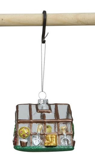 Hand Painted Glass Greenhouse Ornament - Brown