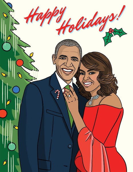 Happy Holidays from The Obamas - Holiday Greeting Card