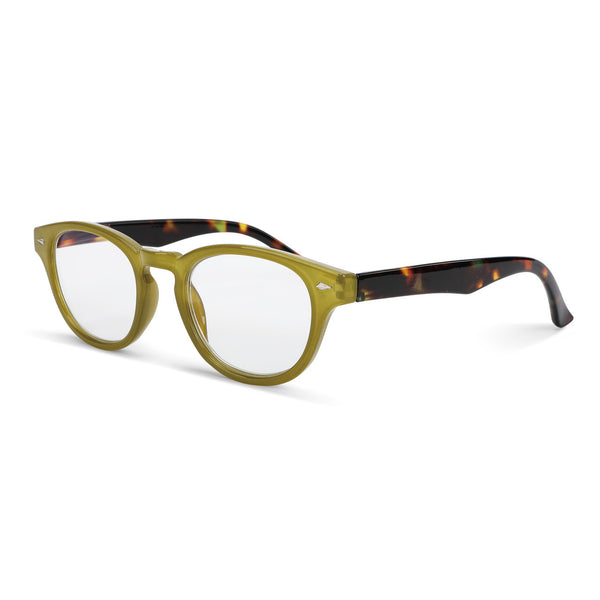 Green Tortoise Shell Fashion Readers