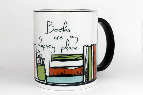 Books Are My Happy Place - Coffee Mug 11-oz
