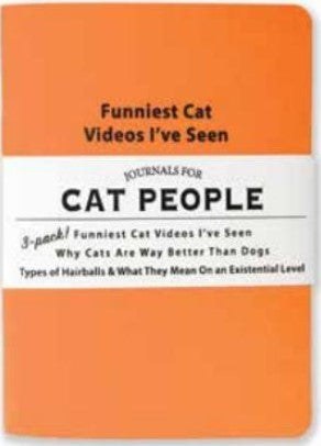 Journals for Cat People - Set of 3