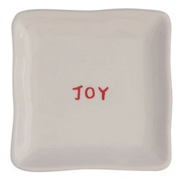 Festive Holiday Trinket Plate - 5-in