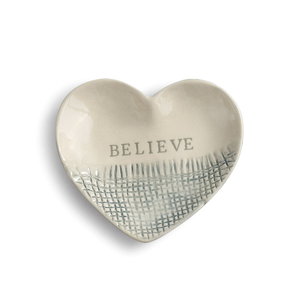 Believe Treasure Keeper - Heart Shaped Trinket Dish