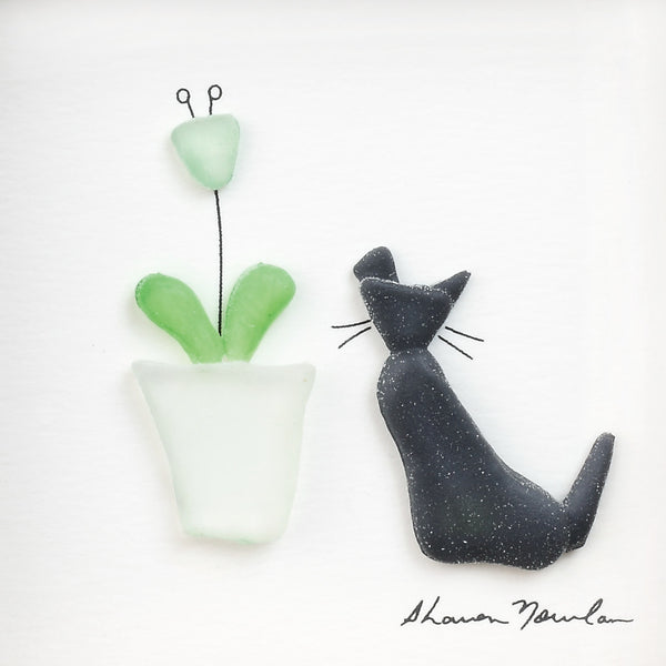 Sharon Nowlan - Purrfect Petals Wall Decor - 6 x 6 in
