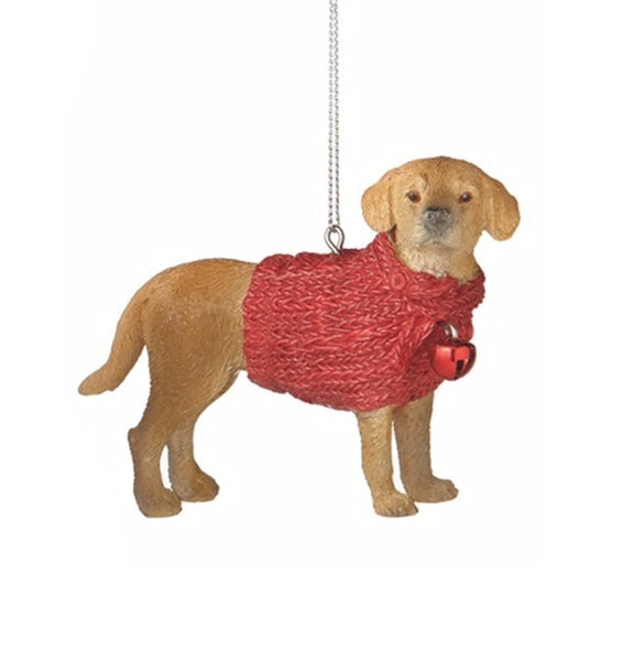 Family Dog in Red Sweater Ornament - Mellow Monkey  - 2