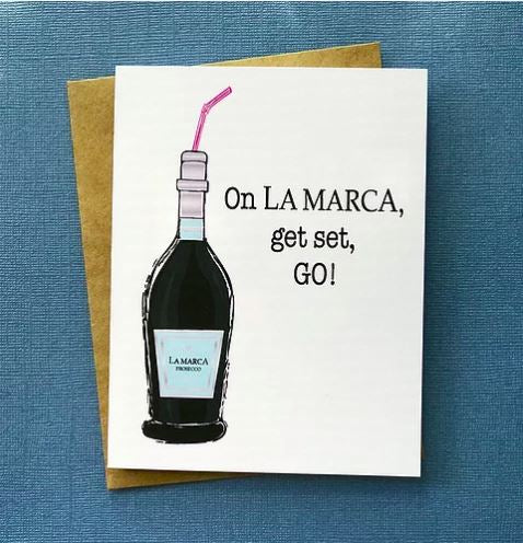 On La Marca, Get Set, GO! - Greeting Card